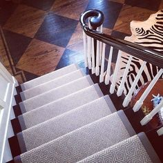 Patterned, banded carpet runner for stairs The Zhush: Updates Around My House
