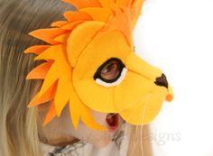 You can be the King of the Jungle! Make this roarsome, 3D lion mask with our easy to follow sewing pattern, a few pieces of felt and some hat elastic. Your completed mask is the start of a roaring good time and will fill you with pride long after the party, Halloween or dress up day is over!  You will receive: ... A list of supplies you will need ... Step-by-step instructions ... Pictures for every step of the creation process ... Stitch Diagrams ... A Full-sized pattern for you to print and…