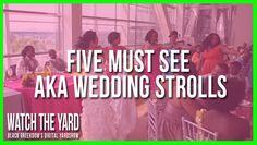 Five Must See Alpha Kappa Alpha Wedding Strolls #followprettypearlsinc AKA 1908
