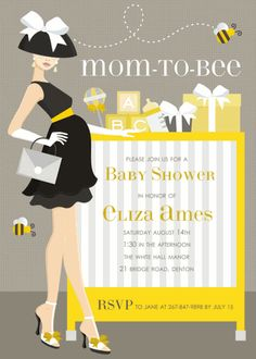 Mom-to-Bee Invitations by Doc Milo - Invitation Box