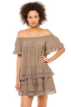 3d1739803e Muche et Muchette Womens Cottons Dress Swim Cover Up Gray One    Find  similar beachwear