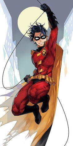 Timoteo Jackson Drake Wayne (Tim Drake) // Red Robin // fourth Robin Nightwing, Batwoman, Batgirl, Comic Book Characters, Comic Book Heroes, Comic Character, Comic Books Art, Comic Art, Im Batman