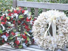 burlap wreath by Serendipity Refined