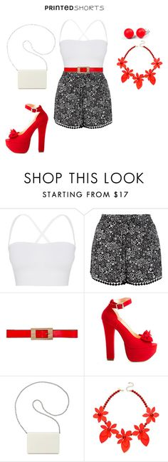 """""""Girl's night out"""" by nadia-n-pow on Polyvore featuring Theory, New Look, Marni, Luichiny, Nine West, Kate Spade, Hring eftir hring and printedshorts"""