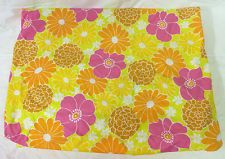 Wabasso Vintage 70s MOD Floral Flower Power Hippie Full Double Fitted BED Sheet | eBay