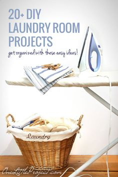 Laundry may never be completely DONE, but these easy DIY laundry room projects will help make it easier, cheaper and more fun to get through the loads.