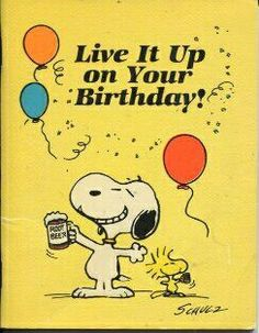 Snoopy and Woodstock Happy Birthday!