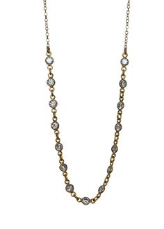 """Dainty crystal sparkler choker. Perfect to glam up any outfit. Finished with 14k gold filled chain. Adjustable from 14"""" to 16"""" inches."""