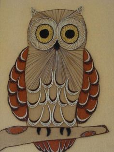 Vintage Owl String Art BeastlyLettuce