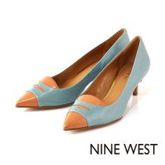 NINE WEST 知性典雅淑女款 細緻樂福設計低跟鞋-清爽水藍 - Yahoo!奇摩購物中心