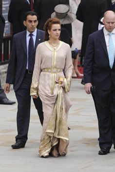 Princess Lalla Salma - beautiful dress worn to the royal wedding of William and Catherine
