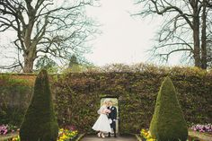 Beautiful gardens and lovely couple at House for an Art Lover, Glasgow  #houseforanartlover #wedding #scotland