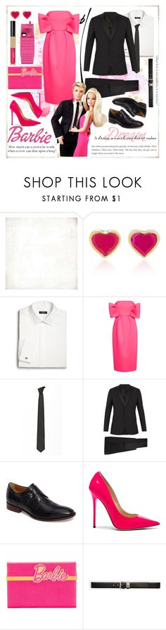 """""""Cute couple"""" by celine-diaz-1 ❤ liked on Polyvore featuring BasicGrey, She Bee, Saks Fifth Avenue, Delpozo, Lardini, Valentino, Johnston & Murphy, Jimmy Choo, Charlotte Olympia and Chanel"""