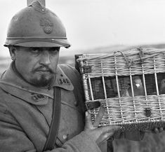 French soldier with homing pigeons in 1915. They played a vital part in WW1 as they provided an extremely reliable way of sending messages. Such was the importance of pigeons that over 100,000 were used in the war with an astonishing success rate of 95%.
