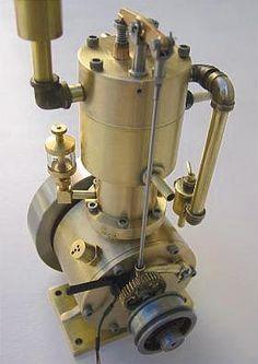 "1906 ""Bill"" 4-Cycle Gas Engine - 1/3 scale model runs on propane gas."