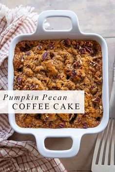 Delicious Desserts, Just Desserts, Dessert Recipes, Yummy Food, Pumpkin Recipes, Fall Recipes, Holiday Recipes, Fall Baking, Pumpkin Dessert