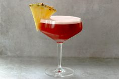 Rum Negroni Pineapple Sour: Ready to set sail into Negroni Week? Start with this fruity spin on the classic, doctored with rum in place of gin, plus pineapple juice and egg white.