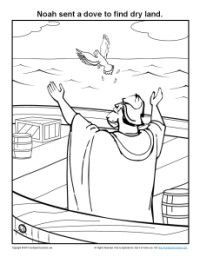 Noah\'s Ark Coloring Pages for Kids | Letter activities, Bible ...