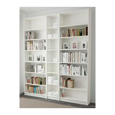 from 110 gbp IKEA - BILLY / GNEDBY, Bookcase, white, , Adjustable shelves; adapt space between shelves according to your needs. Ikea Billy Bookcase White, Narrow Bookshelf, White Bookshelves, Ikea Bookcase, Ikea Shelves, Bookcases, Billy Regal, My New Room, Adjustable Shelving