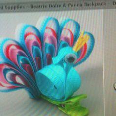 Peacock bow