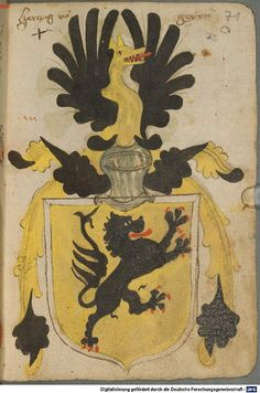 Ortenburger Wappenbuch Bayern, 1466 - 1473 Cod.icon. 308 u  Folio 71r
