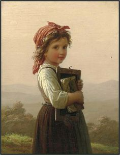 Johann Georg Meyer Von Bremen -The Little Schoolgirl. #reading #books