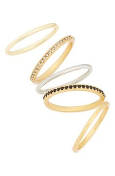 Free shipping and returns on Madewell Set of 5 Filament Stacking Rings at Nordstrom.com. A set of smooth and crystal-embellished delicate rings offer a versatile style—stack them for a statement-making look, or wear them individually for a touch of understated elegance.
