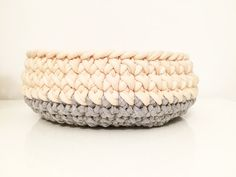 Set of 3 baskets handmade crochet PASTELOVE crochet by Quembec