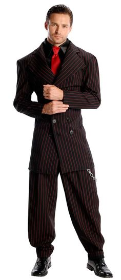 Pin Stripe Zoot Suit Costume Adult
