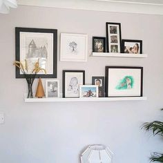 Picture Ledge Bedroom, Ikea Picture Shelves, Photo Shelf, Picture Wall, Ikea Photo Ledge, Picture Ledge Shelf, Photo Ledge Display, Wall Ledge, Decoration Inspiration