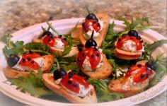 : Fun Summer Appetizer for Parties: Ladybug Tomatoes #GardenCuizine #recipe