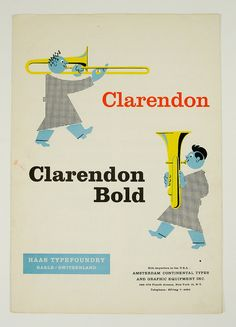 Clarendon Specimen Booklet by Herb Lubalin Study Center, via Flickr