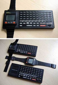 I was surfing the web this morning when I found an image of this long forgotten watch, The Seiko Data I never owned one, but when I was in school I had a friend who was really into gadgets,… Retro Watches, Vintage Watches, Cool Watches, Watches For Men, Wrist Watches, Alter Computer, Computer Love, Old Technology, Technology Gadgets