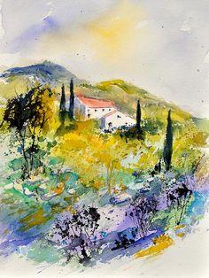 Watercolor 314041 Painting  - Watercolor 314041 Fine Art Print