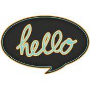 Hello!- Black Talk Bubble