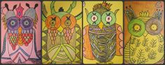 second grade art project ideas | Couldn't resist showing you a few more of the owls that all my ...