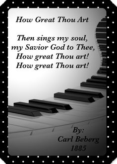 ~ Then Sings My Soul ~
