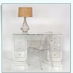 Mirror Desk with Drawers