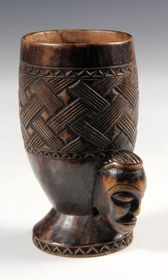Africa | Palm wine cup from the Kuba people of DR Congo | Wood | 19th century