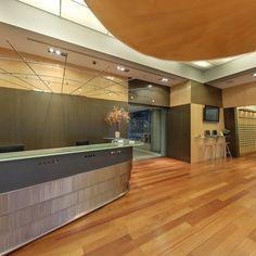 Recepción. CINC, Centro de negocios en Barcelona.