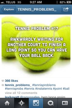Tennis probs #tennisproblems #funnytennismeme