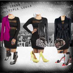 Kocosky sheer panel/back cutout dress