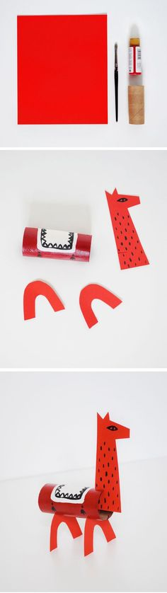 DIY Llama Craft from a toilet paper tube and cardstock