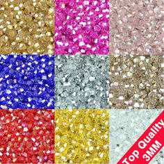 TOP quality 3mm 200pcs AAA Bicone Upscale Austrian crystals beads loose ball supply AB color plating bracelet Jewelry Making DIY