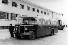 1946 - Lisbon bus at the airport