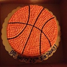 Basketball shape  birthday cake | Yelp