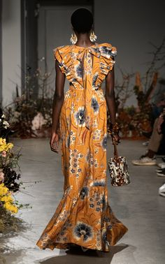 Antoinette Floral-Print Silk Maxi Dress by Ulla Johnson African Print Dresses, African Print Fashion, African Fashion Dresses, African Dress, Fashion Outfits, Textiles Y Moda, Mode Kimono, Evening Dresses, Summer Dresses