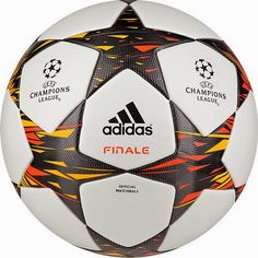 c64344e368 The Adidas Champions League OMB (Official Match Ball) is mainly white with  a black   orange   yellow triangle pattern.