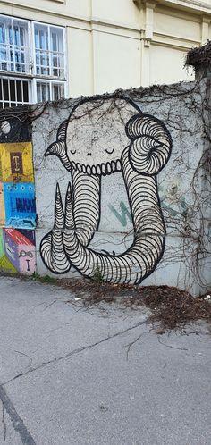 Österreich-Wien-4-Favoritenstrasse 36(Swampy) Dionysus, Murals, Travelling, Street Art, Shoulder Bag, Wall Paintings, Shoulder Bags, Mural Painting, Wall Murals