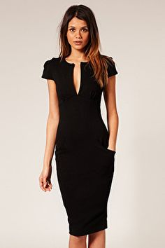 Ponti Pencil Dress with Pockets, $77.58, available at ASOS.